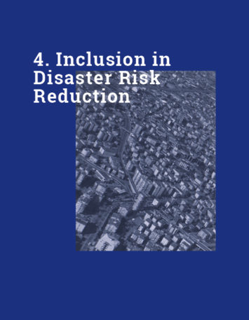 Sec 4  Inclusion in Disaster Risk Reduction - EDUCEN